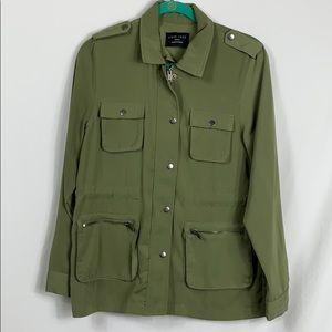 Love Tree olive green full length zipper jacket SM